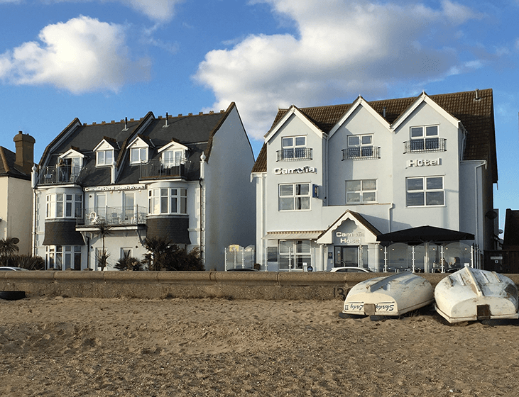 Hotel and Annex from Beach