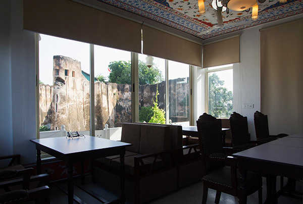 fort view from restaurant