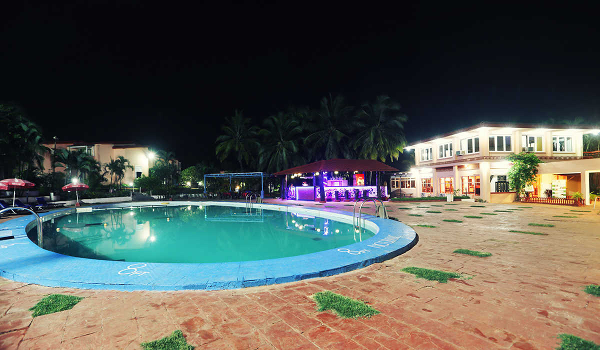 Swimming Poll Night View