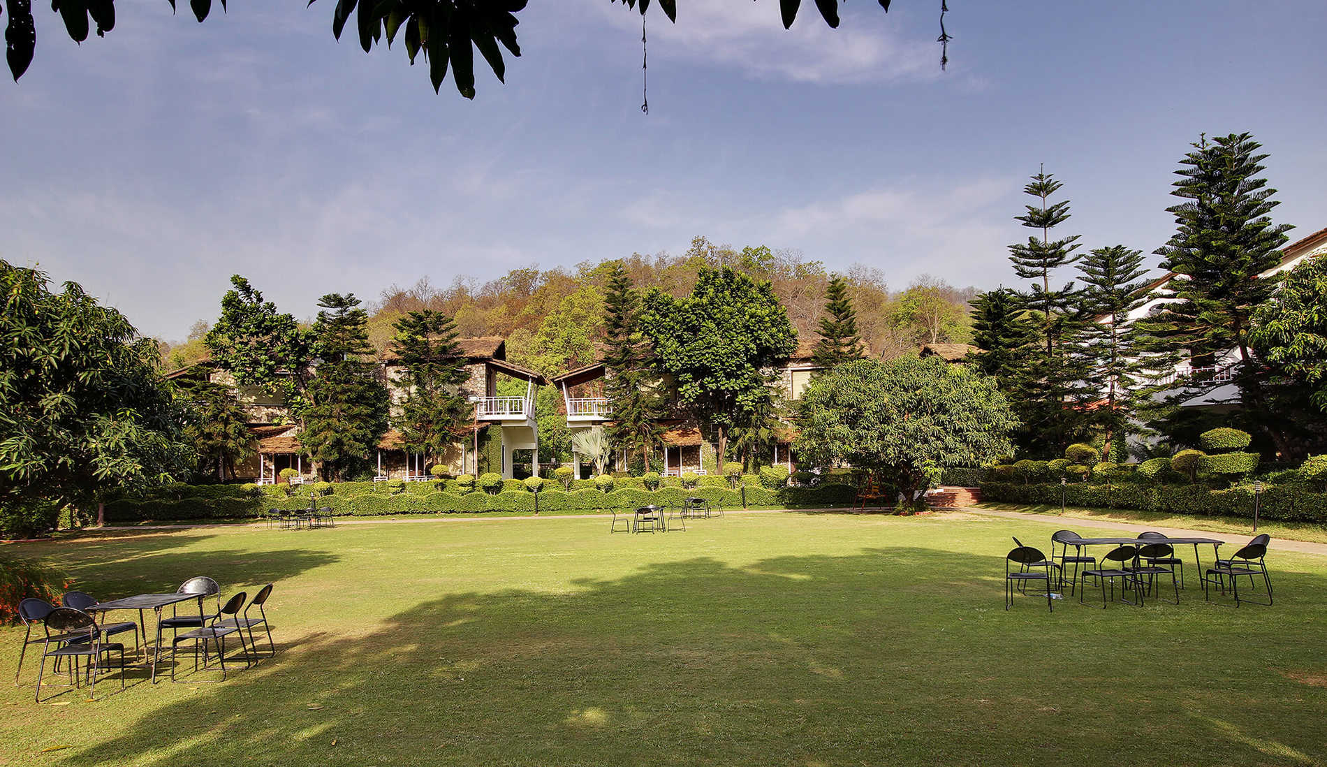 View of Super Deluxe Cottage from Chaur Lawn