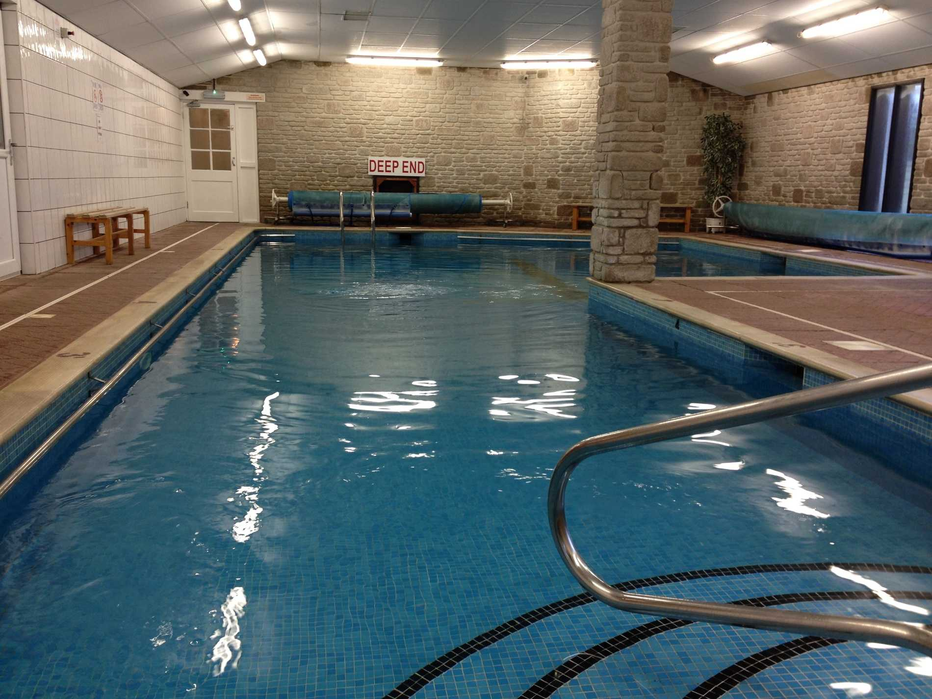 Our warm swimming pool