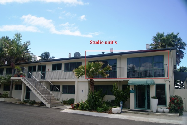 Outside view of Studio units